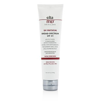 UV Physical Water-Resistant Facial Sunscreen SPF 41 - For Extra-Sensitive & Post-Procedure Skin