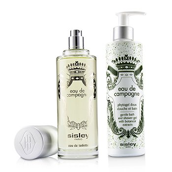 Eau De Campagne Coffret: Eau De Toilette Spray 100ml + Gentle Bath & Shower Gel 250ml
